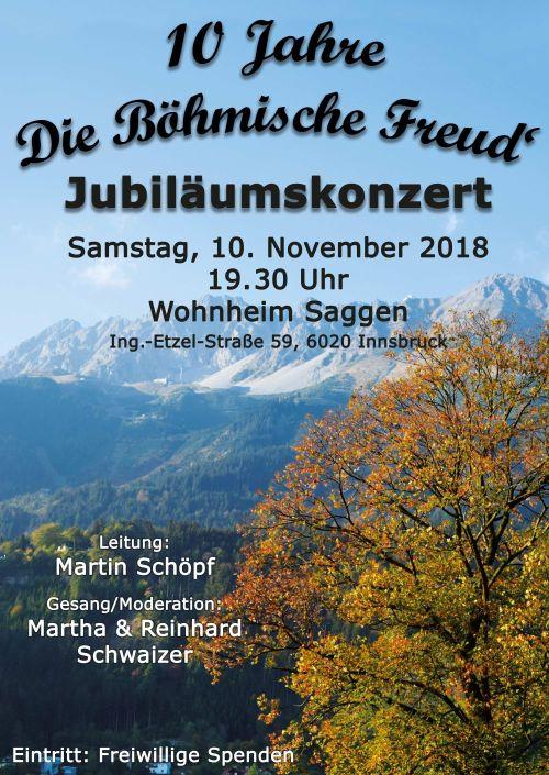 Die Böhmische Freud: Herbstkonzert am Samstag 10. November 2018